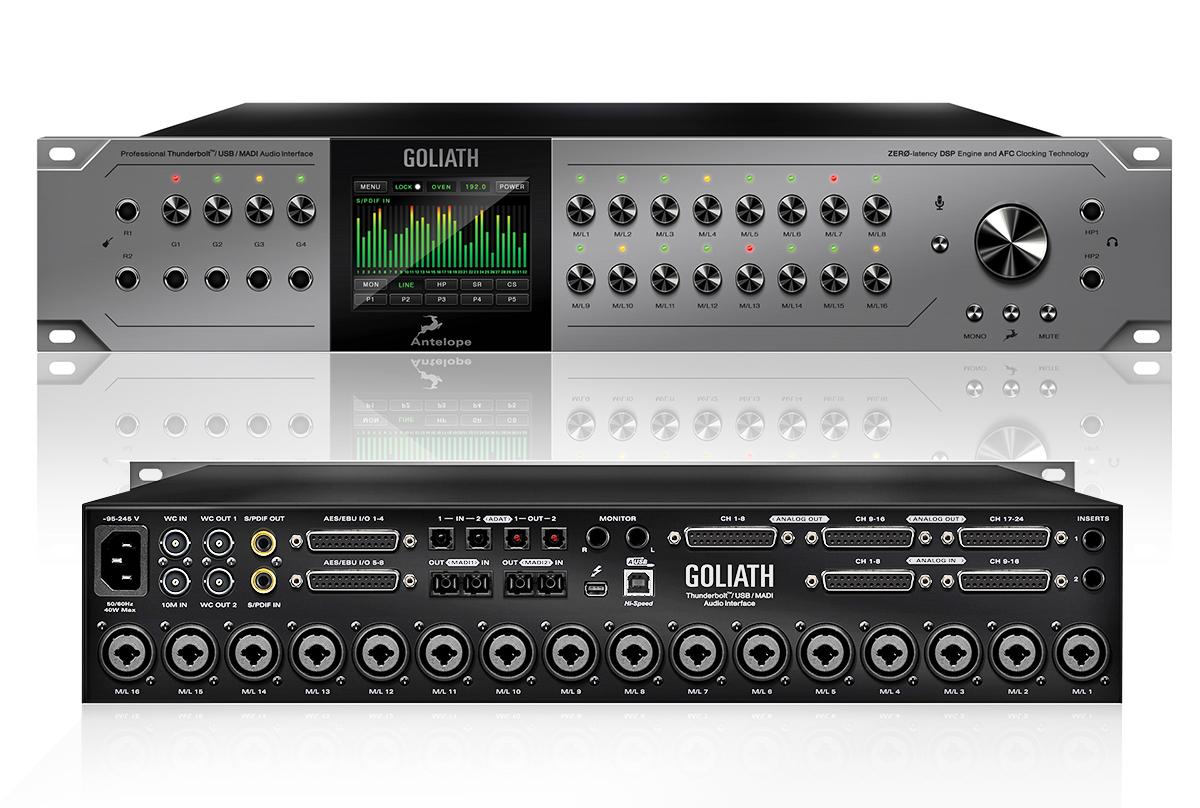Antelope Audio Introduces Goliath Thunderbolt/USB Audio Interface ...