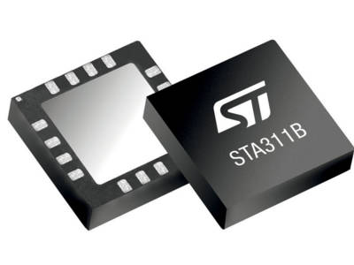 Eight-channel High Dynamic-Range Audio Processor from STMicroelectronics