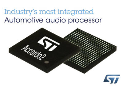 STMicroelectronics Accordo2 Automotive Audio Processor Shrinks Design Cycle and Time-to-Market