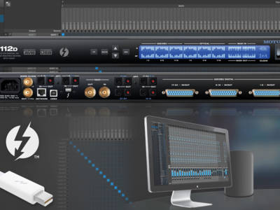 MOTU 112D Thunderbolt Digital Audio Interface, Router, Mixer and Converter