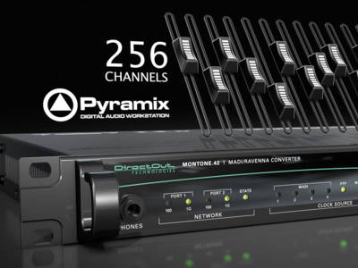 DirectOut and Merging Support Low-Latency Streaming of 256 Audio Channels via RAVENNA