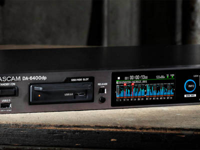 Tascam Announces DA-6400 64-track Solid State Recorder with MADI and Dante I/O Option Cards
