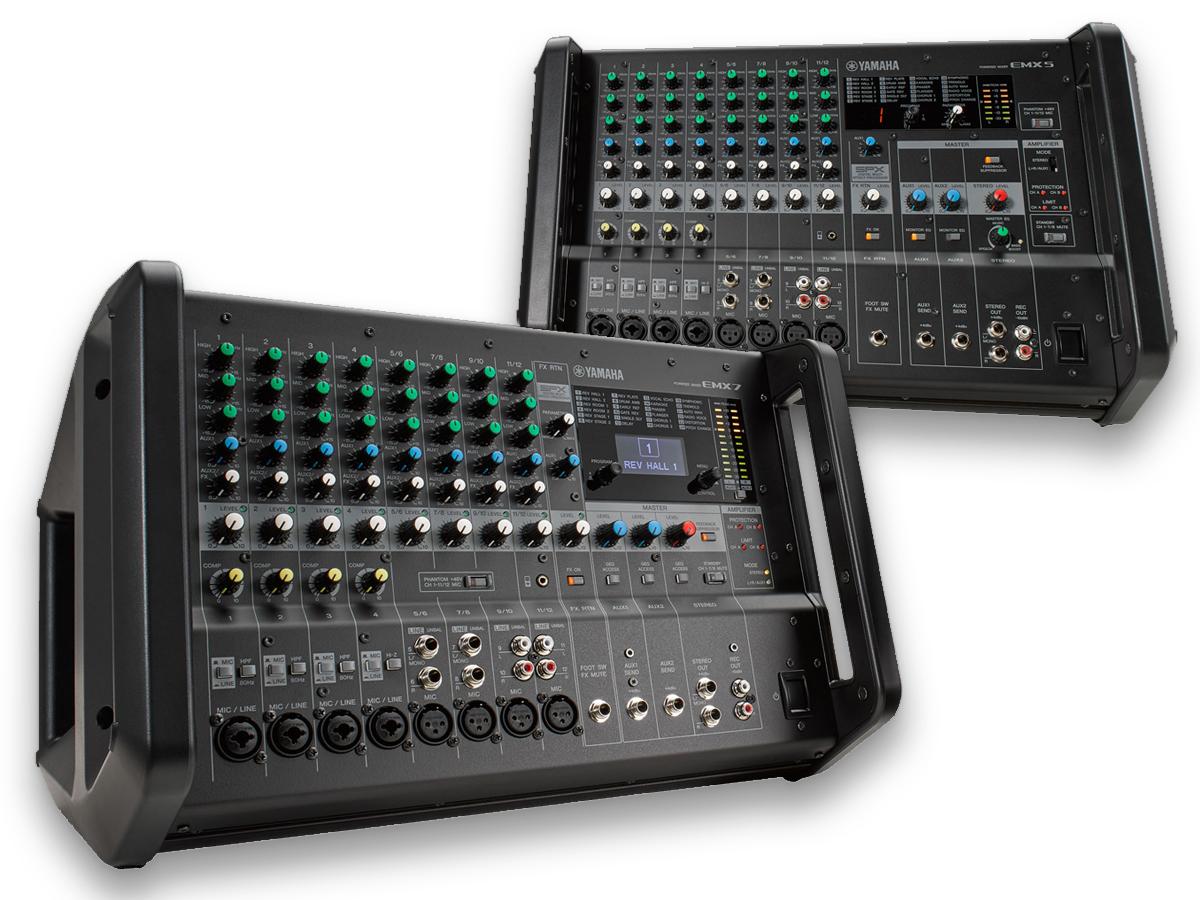 Yamaha launches emx5 and emx7 portable powered mixers for Yamaha powered mixers