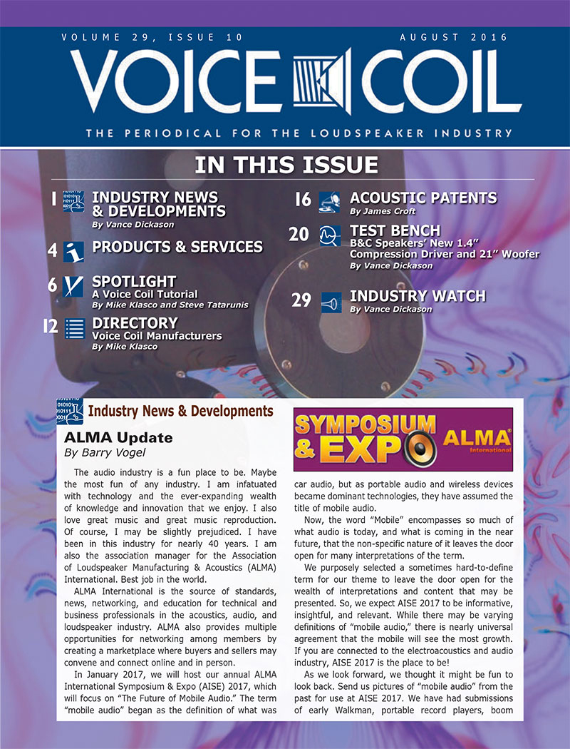 Voice Coil August 2016