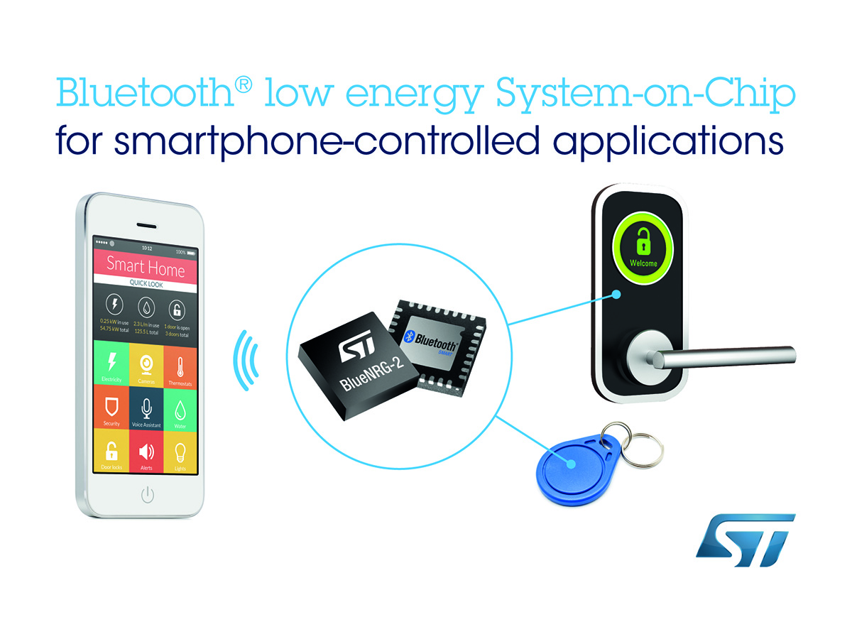 Stmicroelectronics Introduces Bluenrg 2 Next Generation Bluetooth Low Energy Chip For Wireless Connected Smart Devices Audioxpress