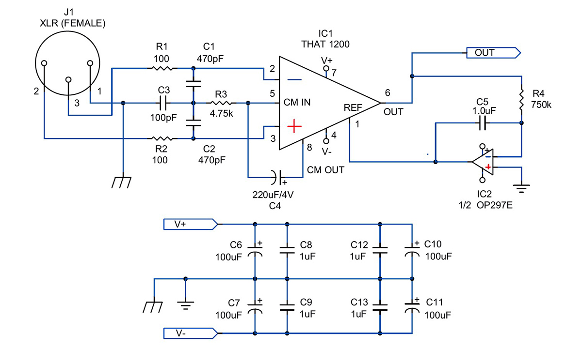 5532 ic mic preamplifire circuit getting the most from that s balanced line drivers and receivers  balanced line drivers and receivers