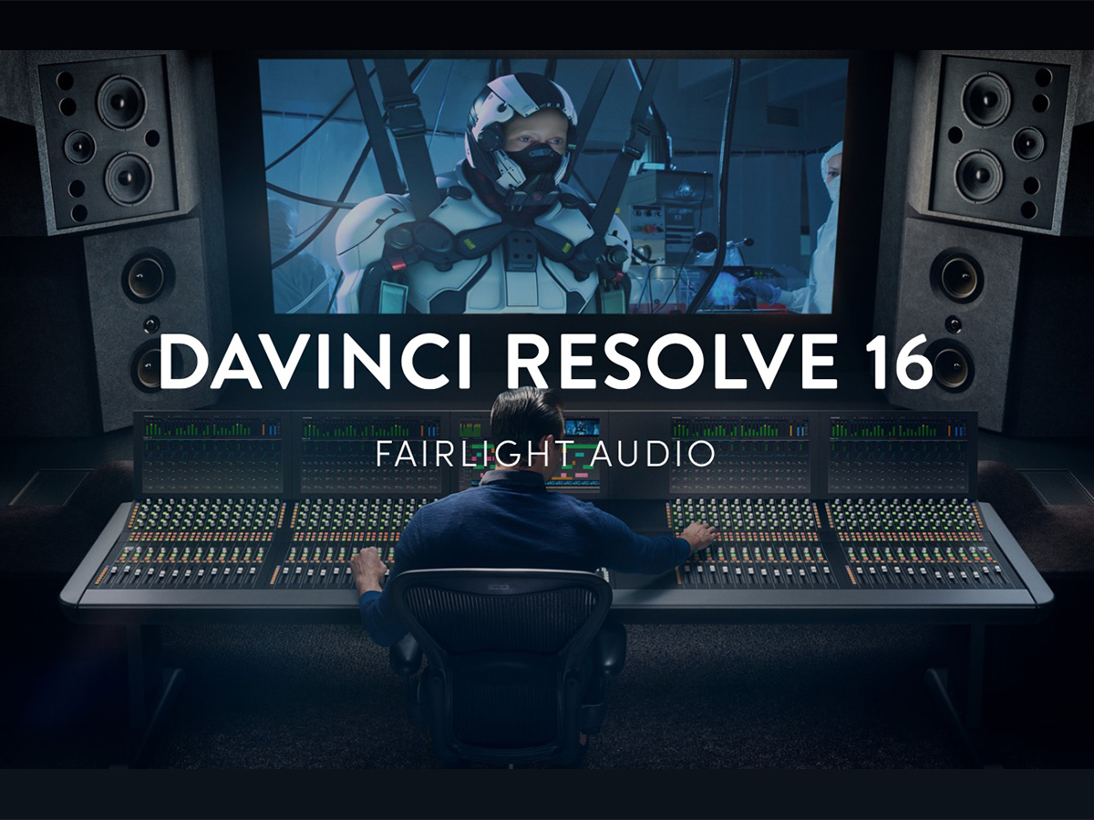 Blackmagic Design Announces Davinci Resolve 16 With Much Improved Audio Features Audioxpress