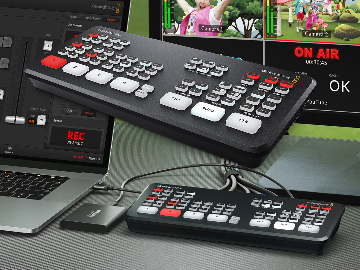 Blackmagic Design Announces New Low Cost Live Production Switcher With Recording Streaming And Monitoring Audioxpress