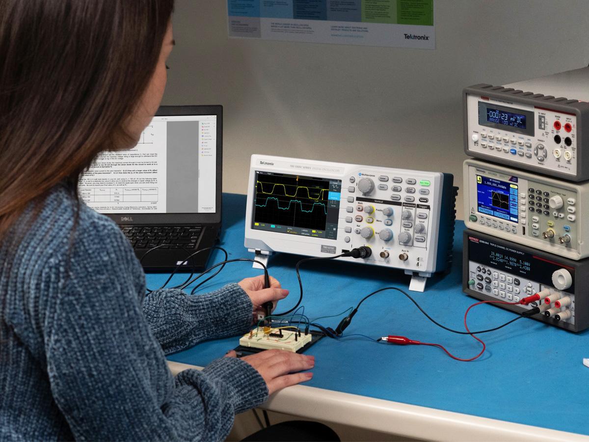 Tektronix Announces Entry Level Tbs1000c Digital Storage Oscilloscope Audioxpress