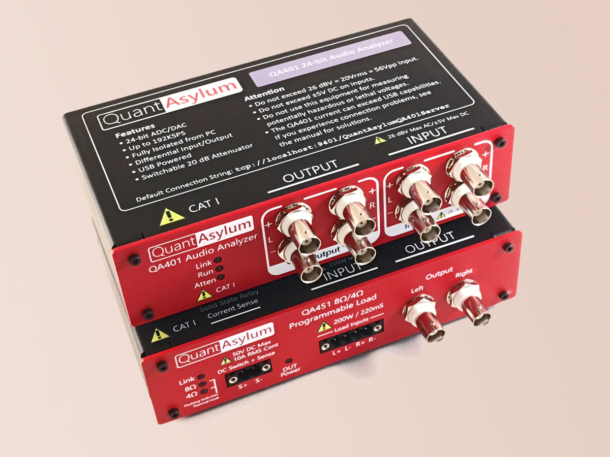 Fresh From The Bench Quantasylum Qa401 And Qa451 Compact And Modular Audio Measurement System Audioxpress