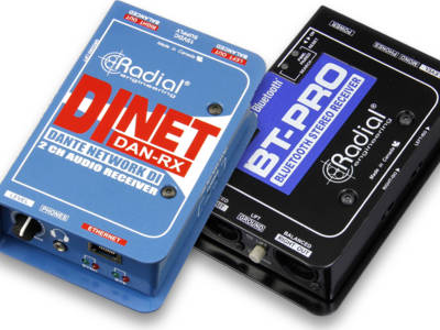 Radial Offers Bluetooth Wireless and Dante Networked Input Solutions