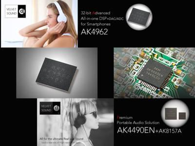 AKM Announces New Premium DAC and DSP Solutions for Premium Portable Audio Applications