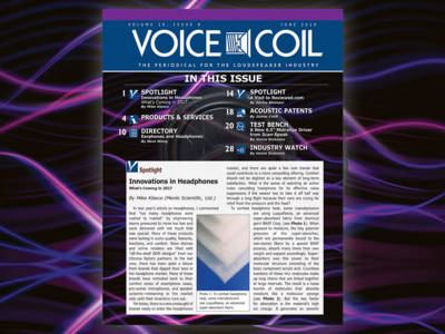 Innovations in Headphones and Speaker Drivers in Voice Coil June 2016, Now Available!