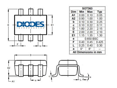 Analog SPDT Switch from Diodes Features Low RON for Signal Multiplexing in Consumer Audio Products
