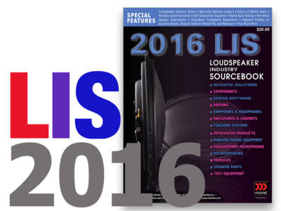 Loudspeaker Industry Sourcebook 2016 - Now Online!
