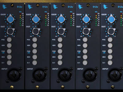 New 500 Series 512v Discrete Microphone and Line PrePreamp from API