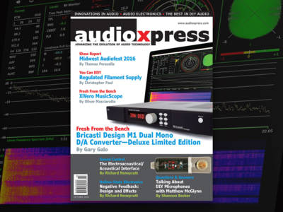 Much to Learn and Discover with audioXpress October 2016. Now Available!