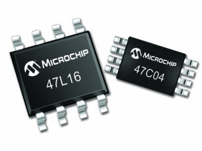New I2C EERAM Memory from Microchip Allows Safe Data Storage at Power Loss