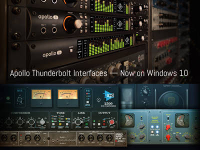 Universal Audio Announces Thunderbolt Compatibility For Windows 10 Systems and New UAD Software v9.0