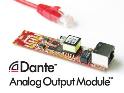 Audinate Introduces Dante Analog Output Adapter Module