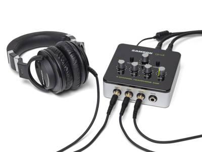 Samson Launches New QH4 4-Channel Compact Desktop Headphone Amplifier