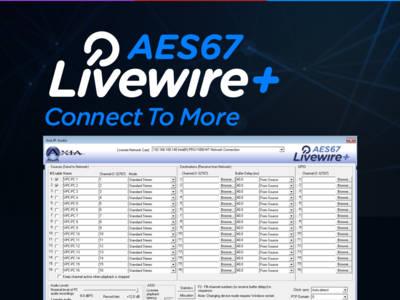 Axia Introduces New Livewire+ AES67 IP-Audio Driver