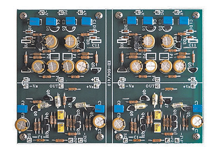 Class A  SE J-FET stereo buffer amplifier PCB New Better Version !