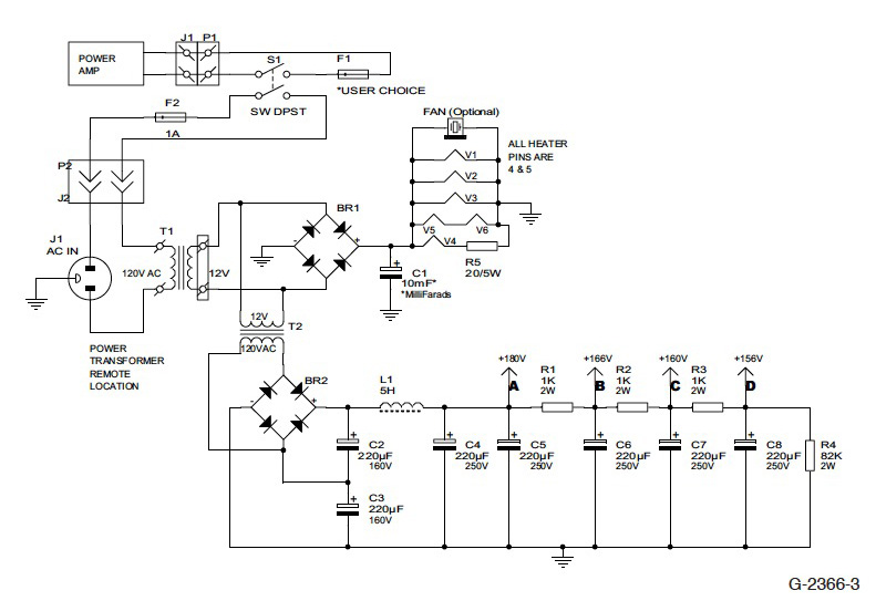 high quality tube type control unit figure 3 power supply schematic